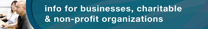 info for businesses, charitable and non-profit organizations